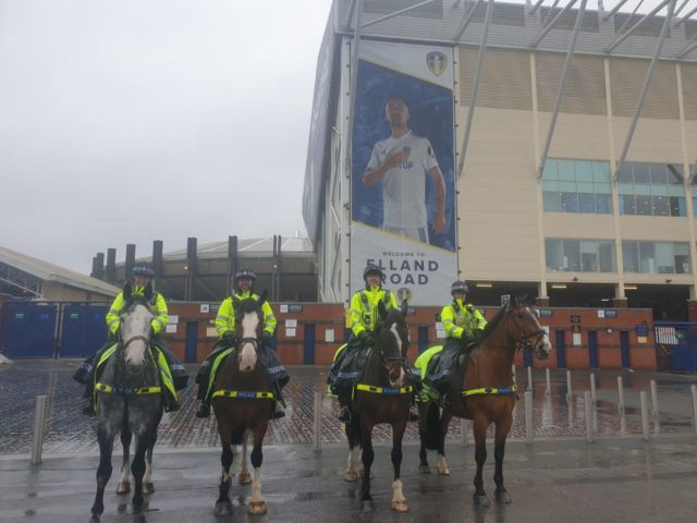 West Yorkshire Police Mounted Section outside Elland Road