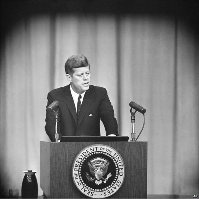 En 1962, le président américain John Kennedy s'est prononcé contre les missiles soviétiques à Cuba