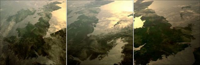 Simulation of how Britain gradually broke free of Europe in 6,100BC - images from A History of Ancient Britain