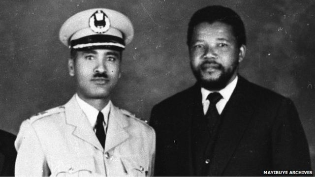 General Tadesse Birru and Nelson Mandela