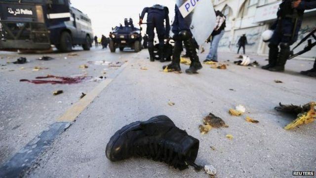 2014-cü ilin martında baş vermis bomba basqınında üç zabit həlak olmuşdu (3 mart 2014)
