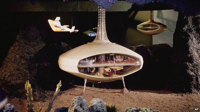 New York World's Fair General Motor's Futurama II exhibition of a moon colony
