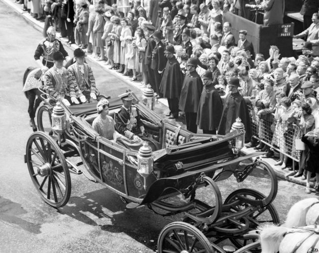 Visite du roi à Buckingham Palace, Londres 1960