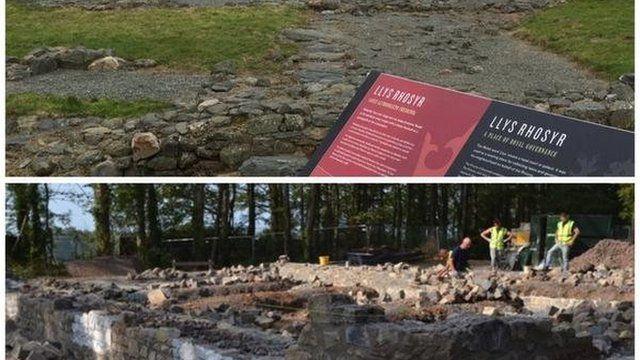 Y safle yn yr Amgueddfa Werin: lluniau drwy garedigrwydd Beth Thomas