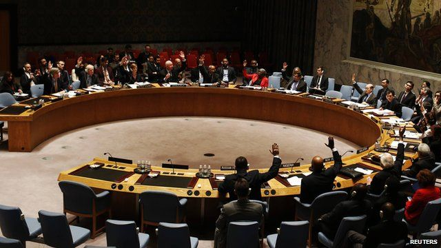The United Nations Security Council at the UN headquarters in New York on 15 February, 2015