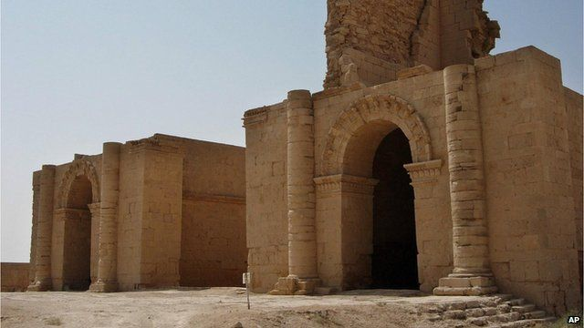 Two temples at the ancient city of Hatra on 27 July, 2005,