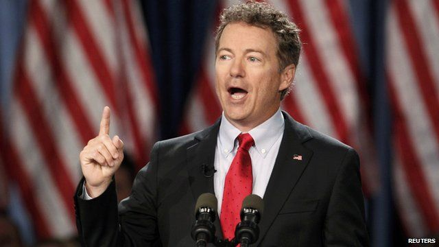 Senator Rand Paul announcing that he is seeking the Republican nomination for the Presidency