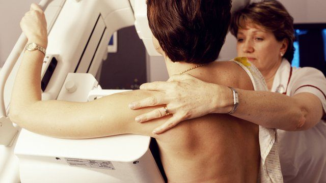 Breast cancer screening involves mammogram scans