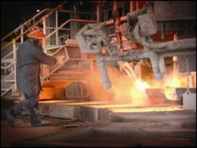 Copper smelter at Mount Isa Mine Australia