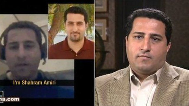 Conflicting videos have deepened the mystery as to Mr Amiri's whereabouts
