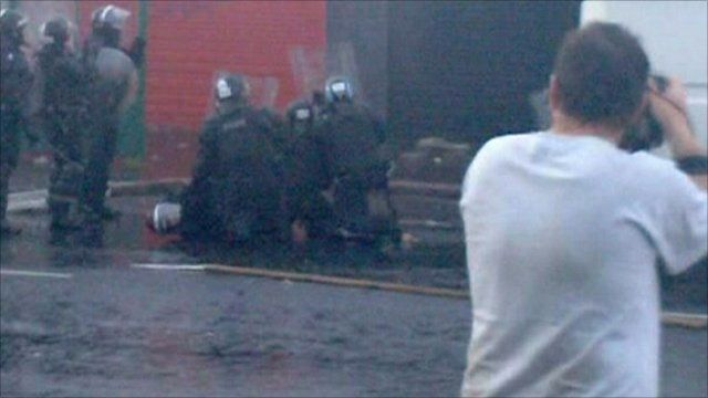 Injured policewoman in Belfast