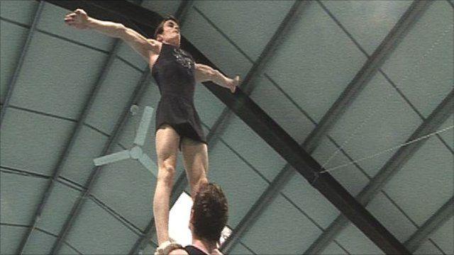 Spelbound acrobats in training
