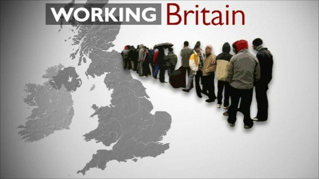 Graphic showing people queuing over a map of the UK