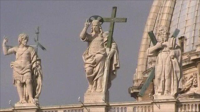 Statues on roof of the Vatican