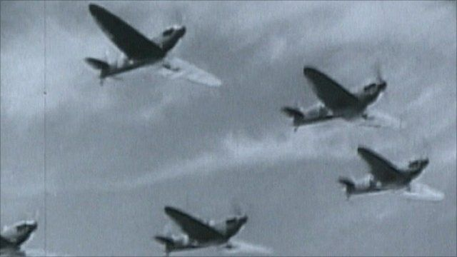 Archive image of planes from WWII