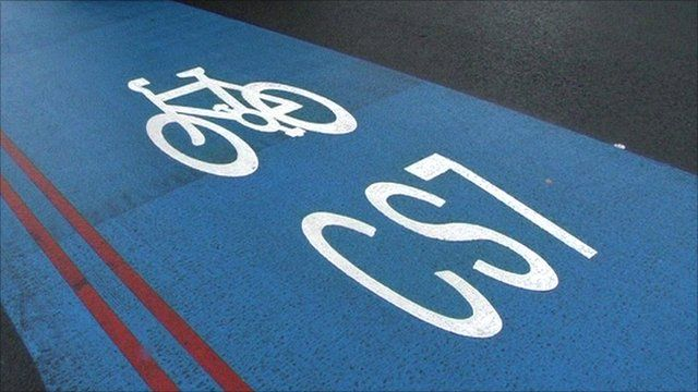 Cycle superhighway sign