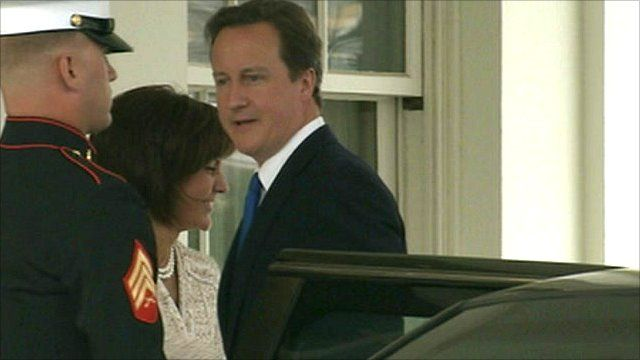 David Cameron arrives at the White House