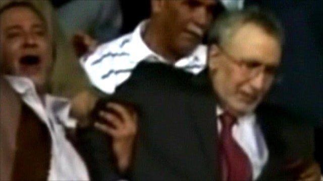 Abdelbaset al-Megrahi (right) is released from prison