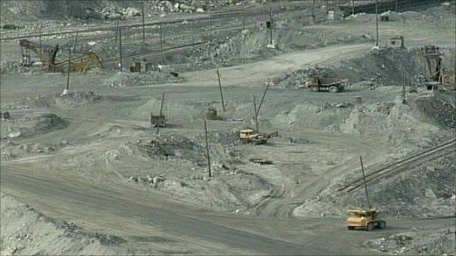 Asbestos quarry in Russia