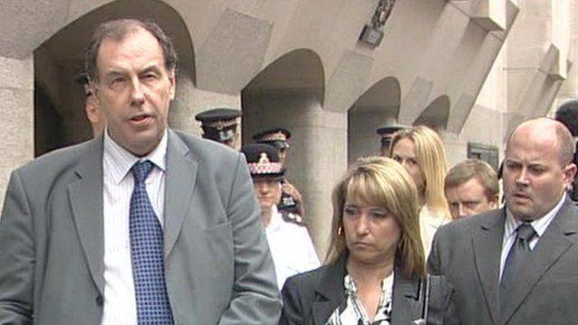 Bulger family lawyer with James Bulger's family
