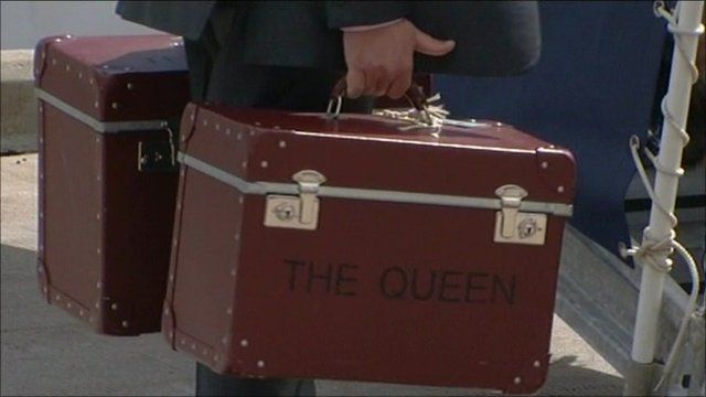 Some of the Queen's luggage