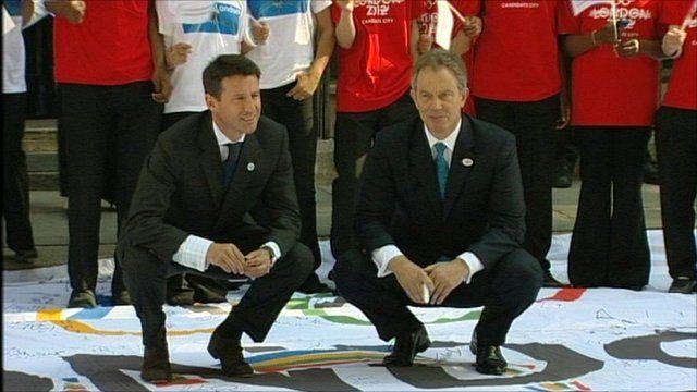 Tony Blair with Lord Seb Coe