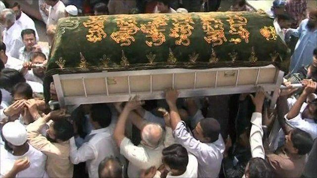 Funeral of air crash victim