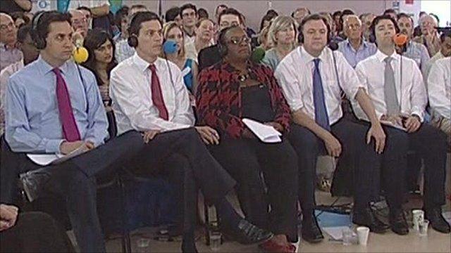 Ed Miliband, David Miliband, Diane Abbott, Ed Balls, Andy Burnham