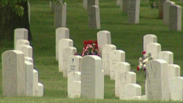 Graves at Arlington National cemetery