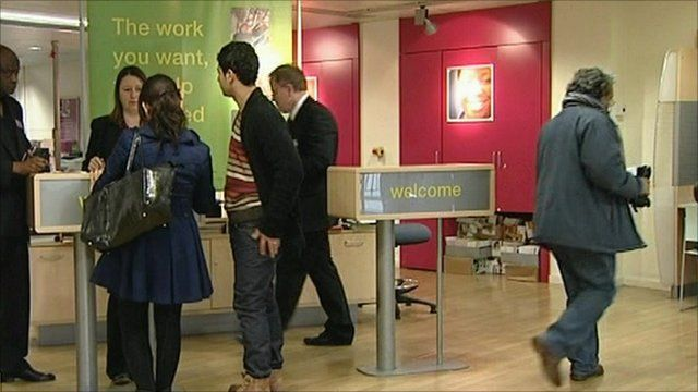 People in job centre
