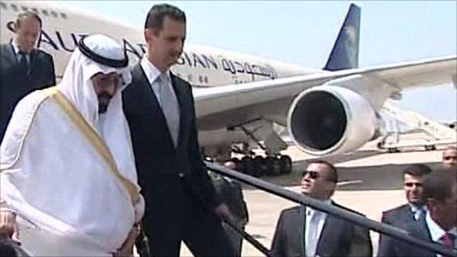 King Abdullah of Saudi Arabia and Syrian President Bashar al-Assad