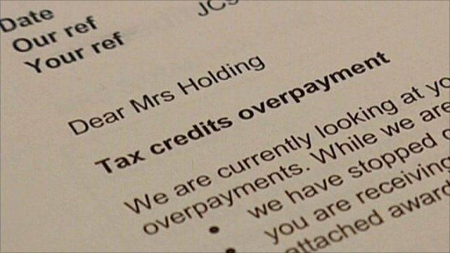 Tax credits letter