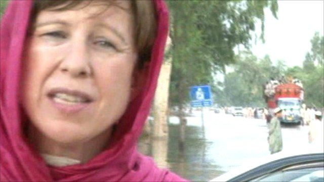 The BBC's Lyse Doucet in north-west Pakistan