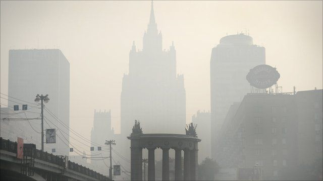 Smog covers Moscow