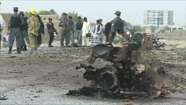 The remains of the car bomb