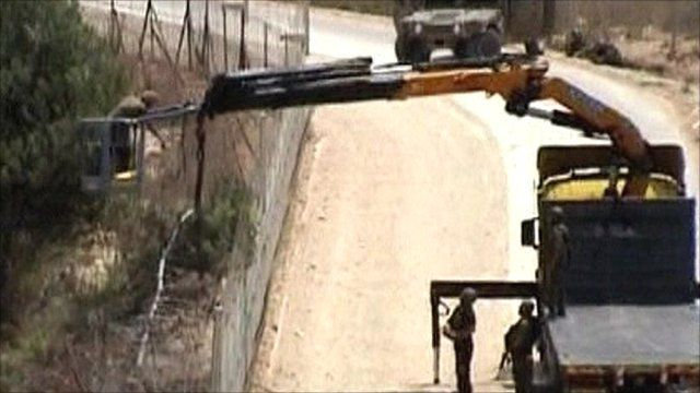 Israeli forces near the Lebanon border
