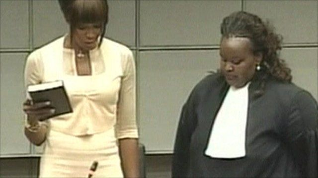 Naomi Campbell in court