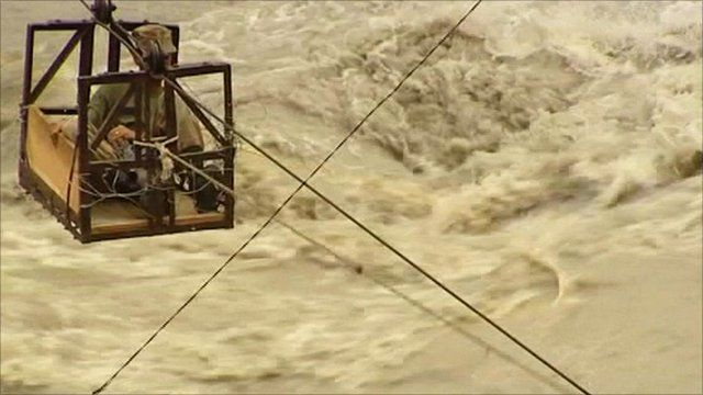 Swollen river in Pakistan