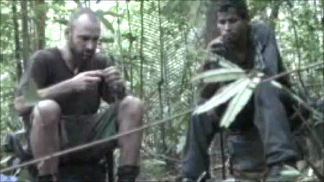 Ed Stafford and Cho