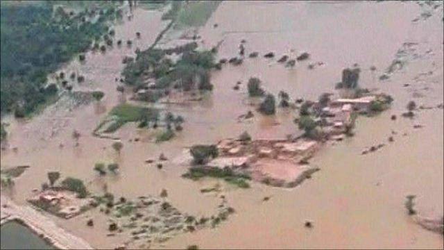 Flood waters in Pakistan