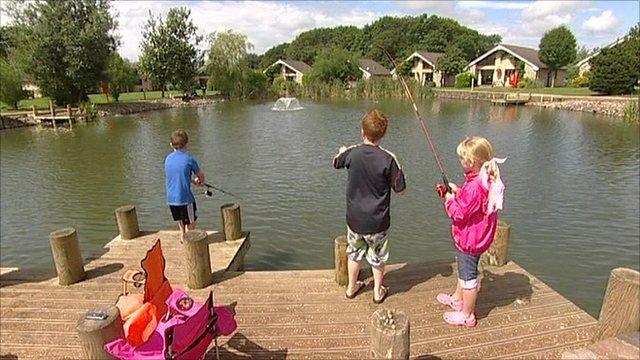 Children fishing on holiday