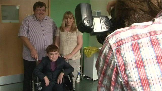 Ciaran Finn-Lynch and family