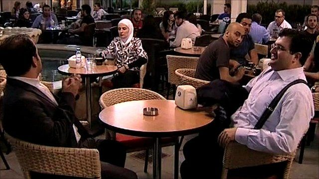 Cafe in Damascus