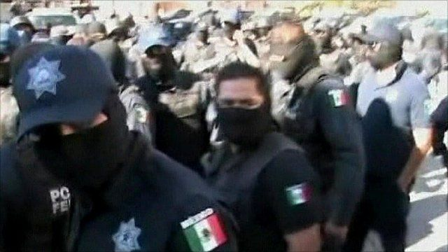 Police officers in Mexico