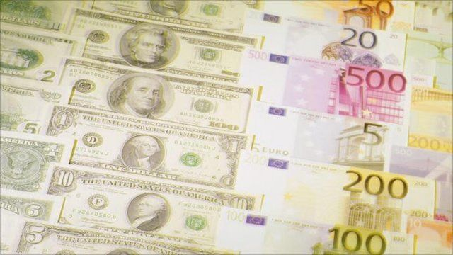 US dollar and euro notes