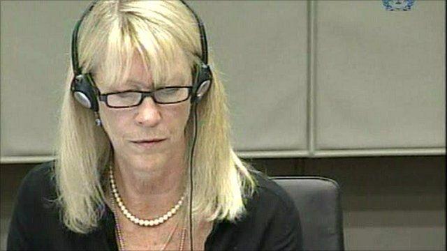Carole White testifies at The Hague