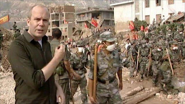 The BBC's Chris Hogg decribes the devastation in Gansu province