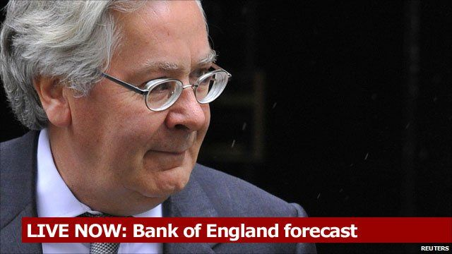 LIVE NOW: Mervyn King gives Bank of England forecast