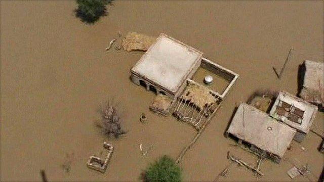 Flooded areas of Pakistan