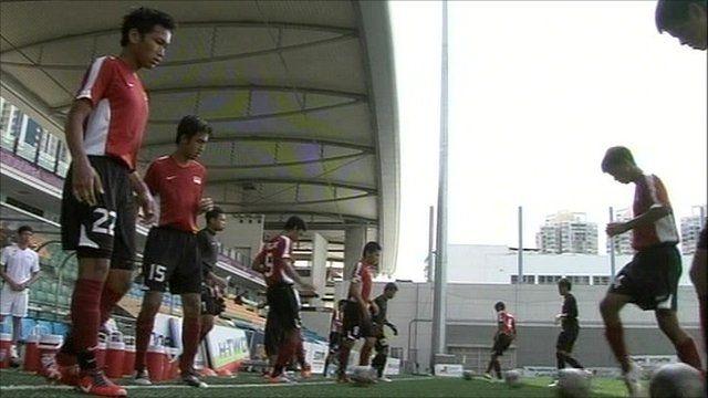 Singapore's Youth Olympics football team